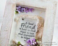 A Good Friend Shadowbox Frame