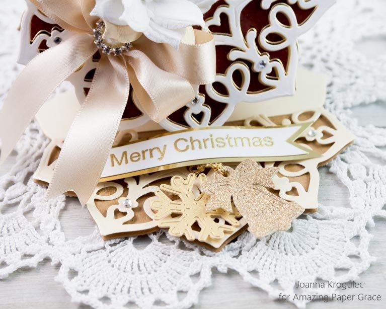 Snowflake Doily easel card