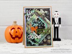 Spooky Boo card