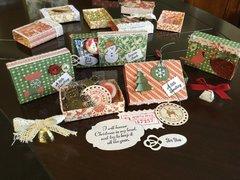 Matchbox gift tags detail