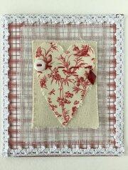2 more Fabric Valentines