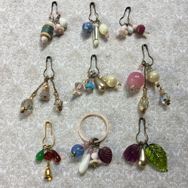 Beaded charm embellishments.