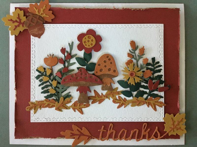 Fall Thank You Card.