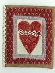 Fabric Valentine card
