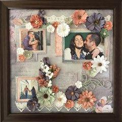 Engagement photo layout.