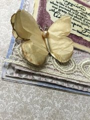 Card with vintage paper butterflies