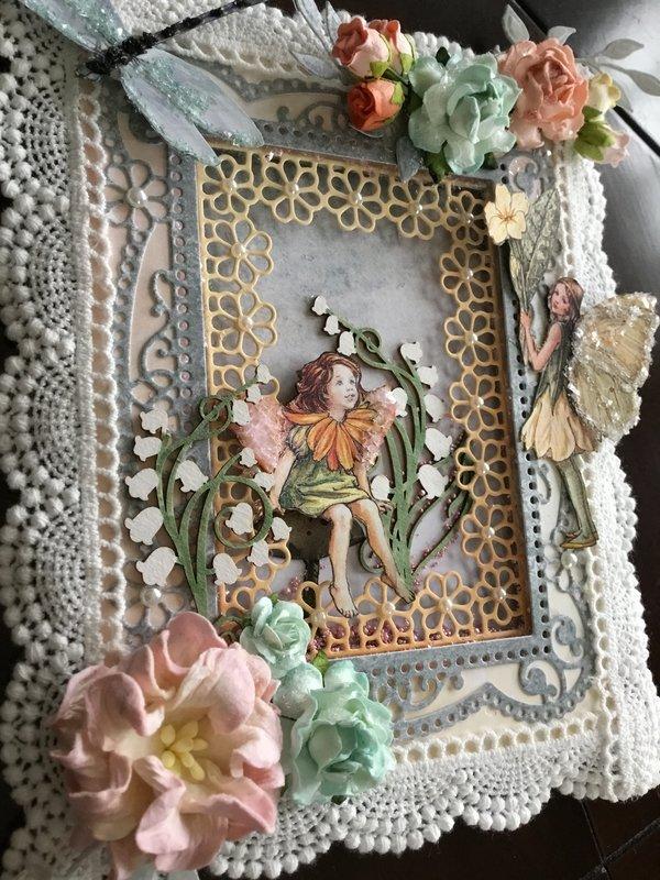 Flower fairy shadow box