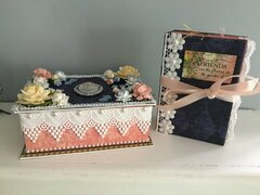 Heirloom Garden mini album with Graphic 45 Floral Shoppe paper.
