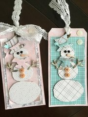 Hers and His Snowman Tags