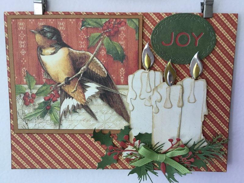 Candle card -Joy