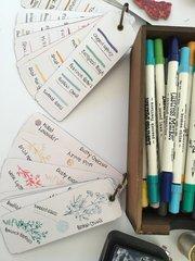 Ink sample cards