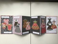 Accordion Book Card:  little girls grow up