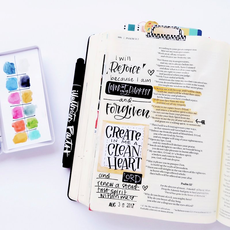 Faith> fear Bible Journaling entry