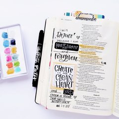 Faith> fear Bible Journaling entry