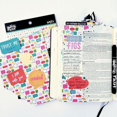 Bible journaling with patterned paper