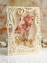 Swirl Frame Card - Top Folding