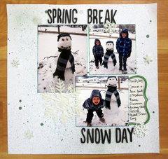 Spring Break Snow Day
