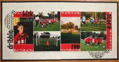 Dribble, Kick, Run, Score (Soccer)