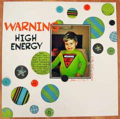 WARNING High Energy
