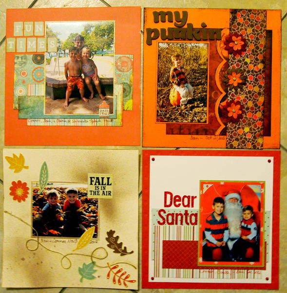 2013 Calendar Sept, Oct, Nov, and Dec (G'ma)