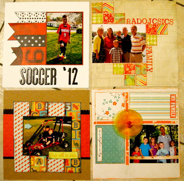 2013 Calendar pages May, June, July, Aug (MIL)