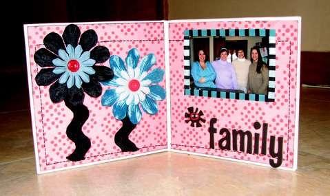 Family gift card holder