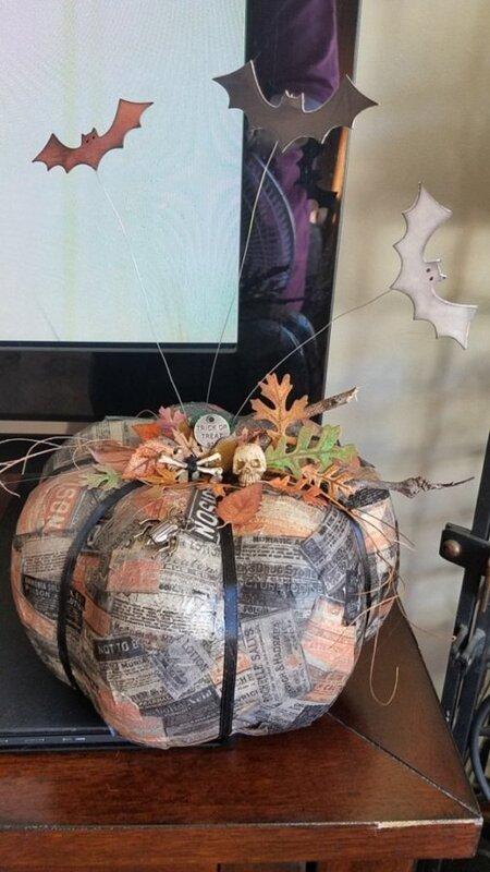Collaged Pumpkin