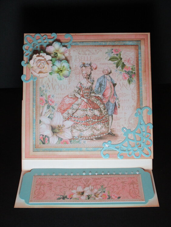Gilded Lily Easel Card Standing Up