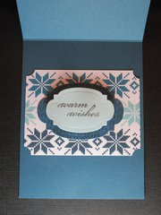 Echo Park Winter Wishes inside the card