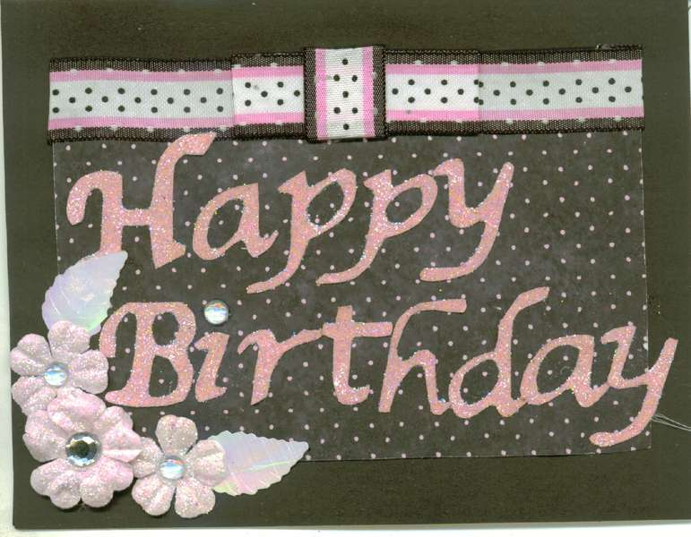 Happy birthaday  with bling