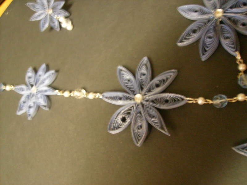 The Blue Star Quilled Neckless and Earing set