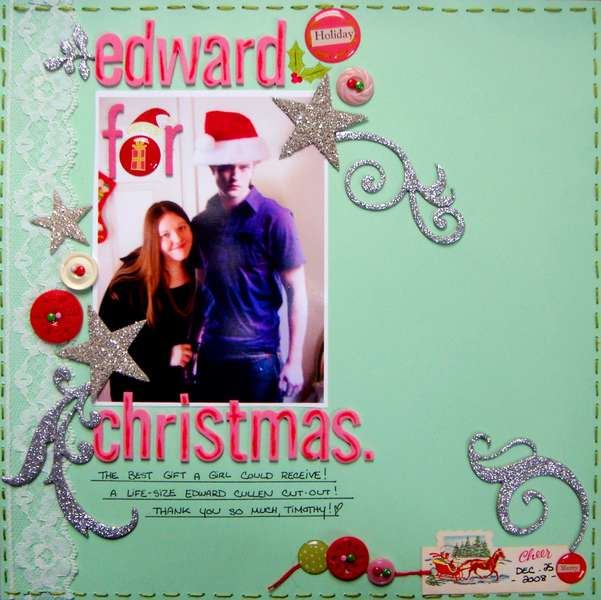 Edward for Christmas (12 x 12)