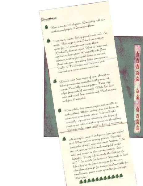Christmas Recipe Swap - Buche De Noel - Directions