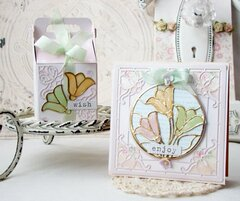 Stained Glass Tulip Trio