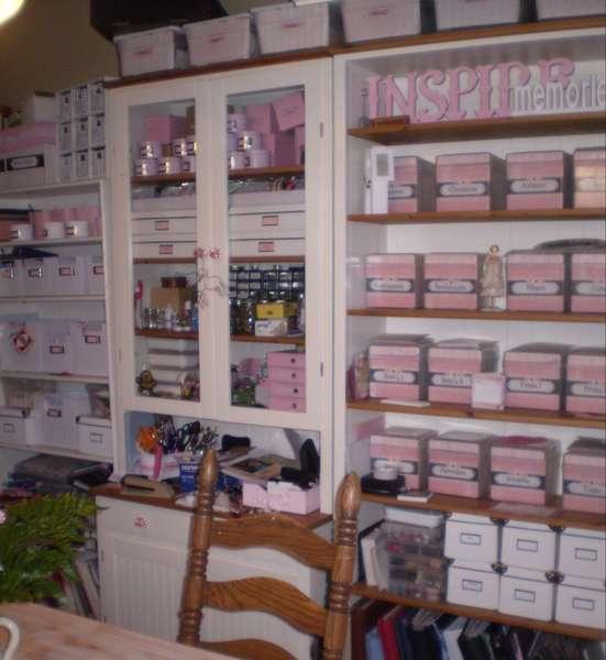 Shabby Chic Scrapbook Room Storage