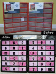 Chipboard Alpha Storage Before and After