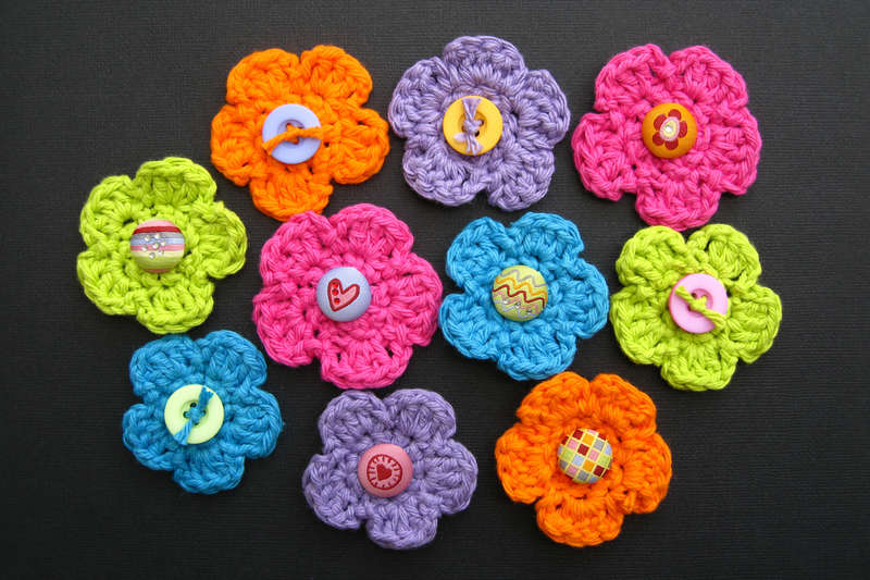 My First Crocheted Flowers