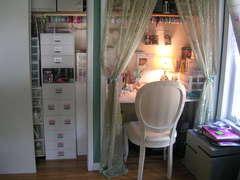 My scraproom (closet)