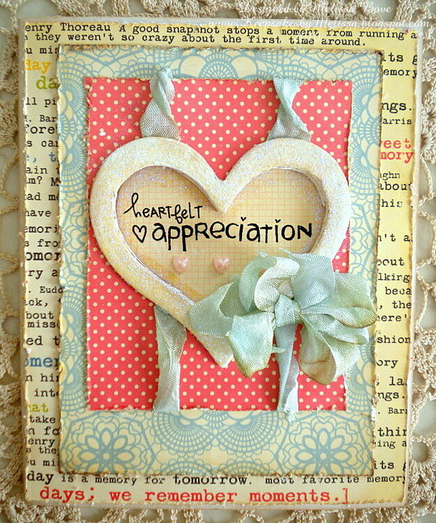Heartfelt appreciation {Window Card}