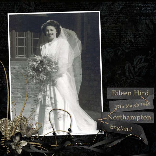 Eileen Hird, wedding day