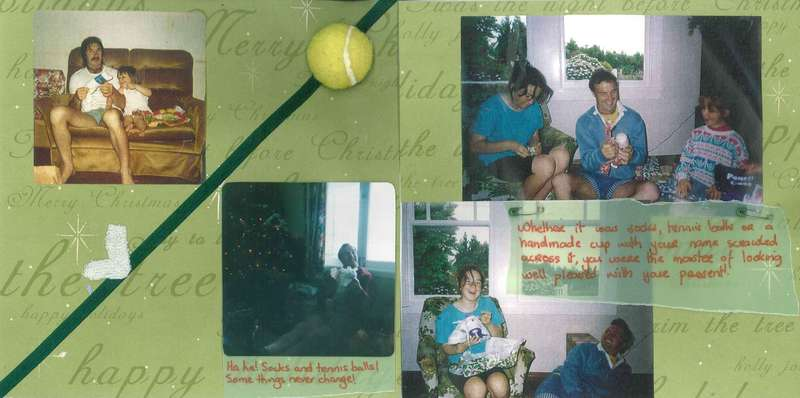 Dad's Scrapbook - Pages 10 & 11 - Christmas