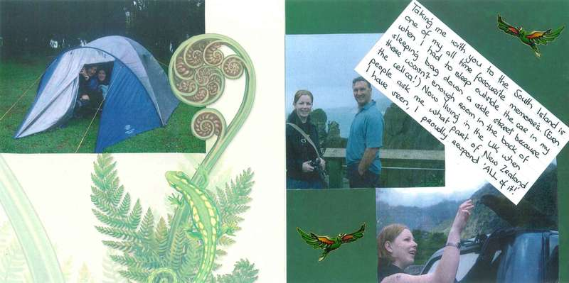 Dad's Scrapbook - Pages 30 & 31 - South Island Trip