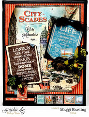 Graphic 45's new collection City Scapes