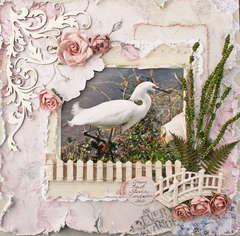 Snowy Egret **Flying Unicorn April KOM**