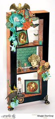 DT project w/ Graphic 45 Steampunk Debutante Window Shadow Box