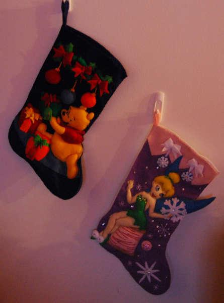 The girls Christmas stockings ...
