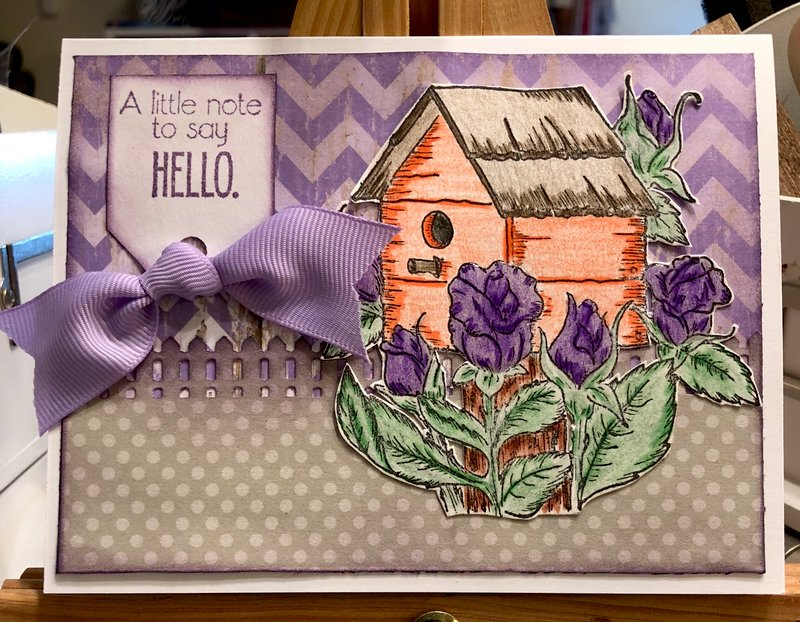 A Note to Say Hello (May Inspirational Card Challenge: Theme)