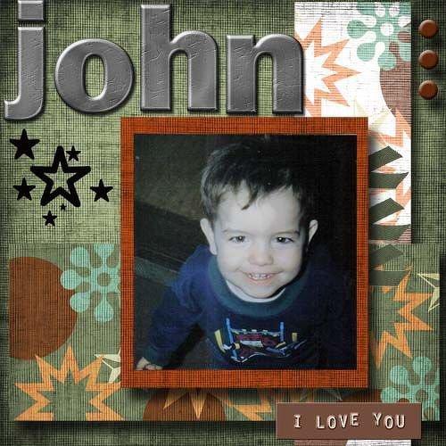 Freebie Kit LO - my son John