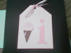 I is for ice cream tag for ABC Summer Tag Swap