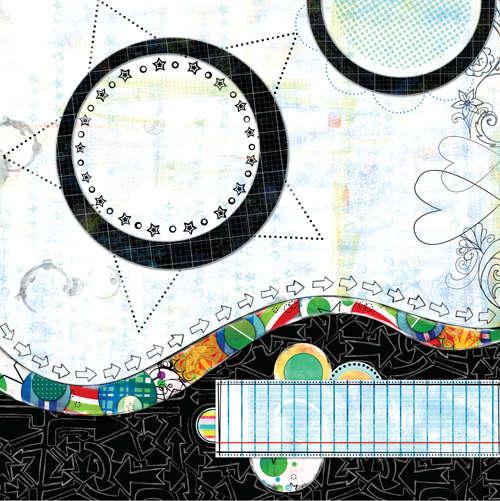 Bisous PDQ Rad paper 1 side B pre designed patterned paper